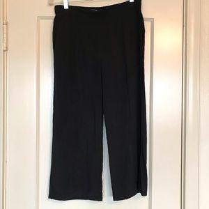 Equipment Femme black silk cropped pants